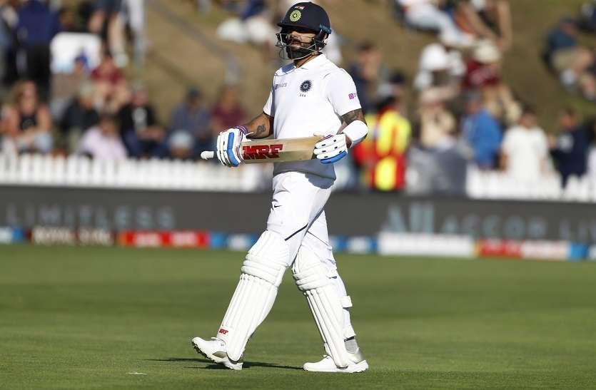 क्राइस्टचर्च टेस्ट- कप्तान कोहली फिर फेल, भारत 242 पर ढेर