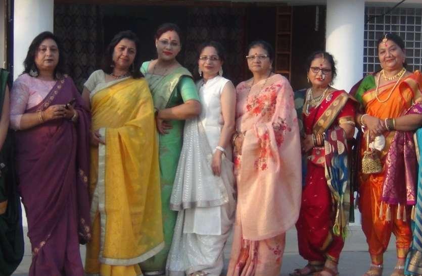 साड़ी पहनकर महिलाओं ने किया फैशन वॉक