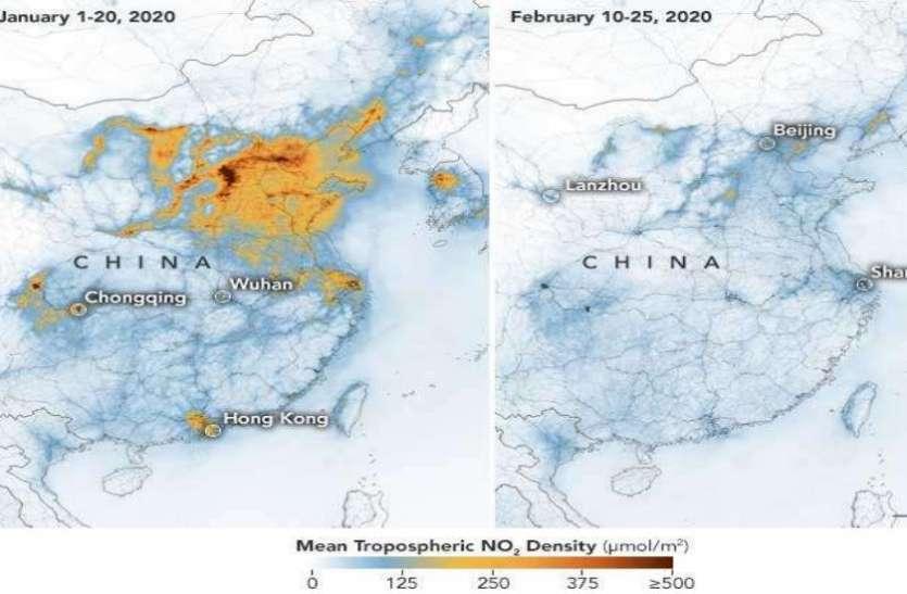 चीन: Coronavrus से प्रदूषण में भारी गिरावट, NASA और ESA ने बताई हैरान करने वाली वजह