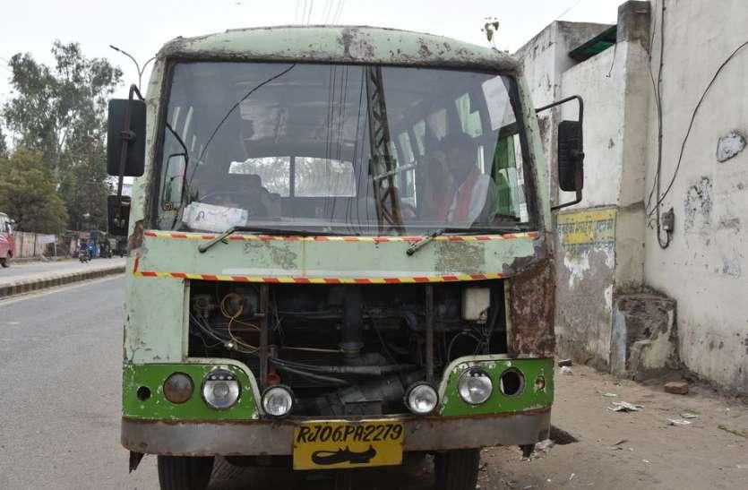 भीलवाड़ा की सड़कों पर दौड़ रही डरावनी बसें, परिवहन विभाग बेखबर