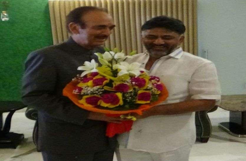 आजाद ने की कर्नाटक के वरिष्ठ कांग्रेस नेताओं के साथ चर्चा