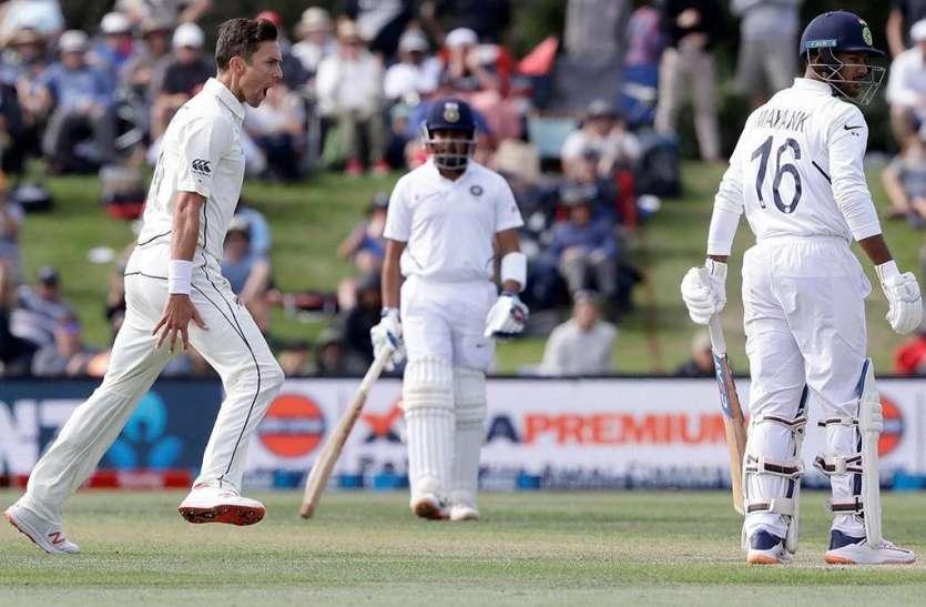 IND vs NZ: दूसरे दिन का खेल खत्म, 100 रन से पहले आधी भारतीय टीम लौटी पवेलियन