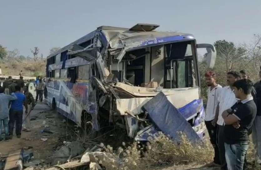 राजसमंद: गुजरात से जयपुर आ रही बस पलटी, मौके पर ही 4 लोगों की मौत
