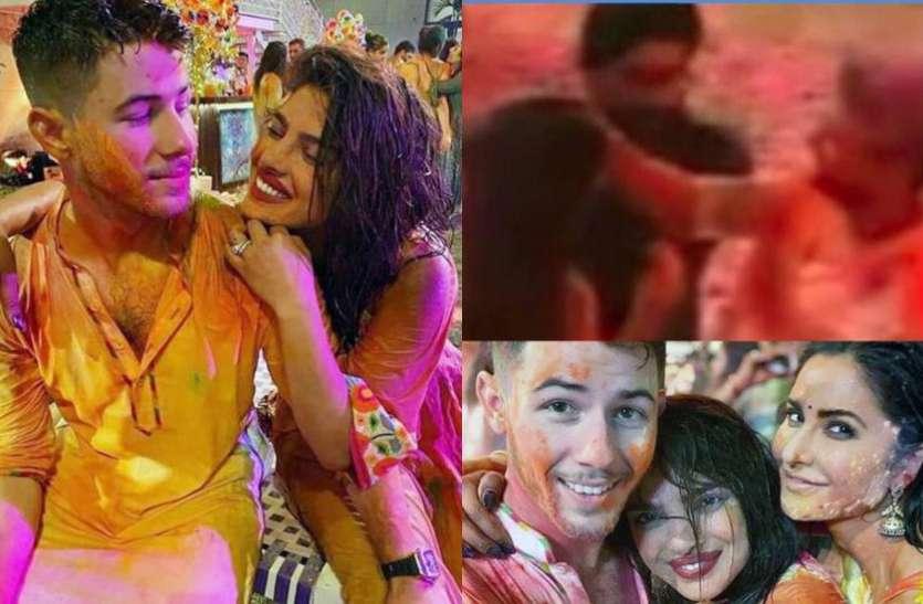 प्रियंका और निक ने अंबानी परिवार के साथ मनाई पहली होली, विक्की ने कैट को चुपके से लगाया रंग.. देखें Photos और Videos