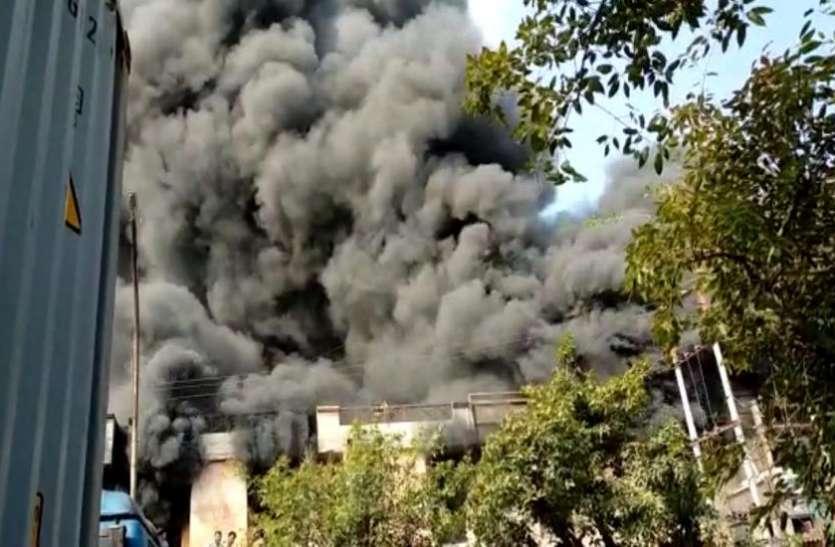 Noida: फोटो फ्रेम बनाने वाली फैक्ट्री में लगी भीषण आग, काले धुएं से दूर-दूर तक फैली दहशत