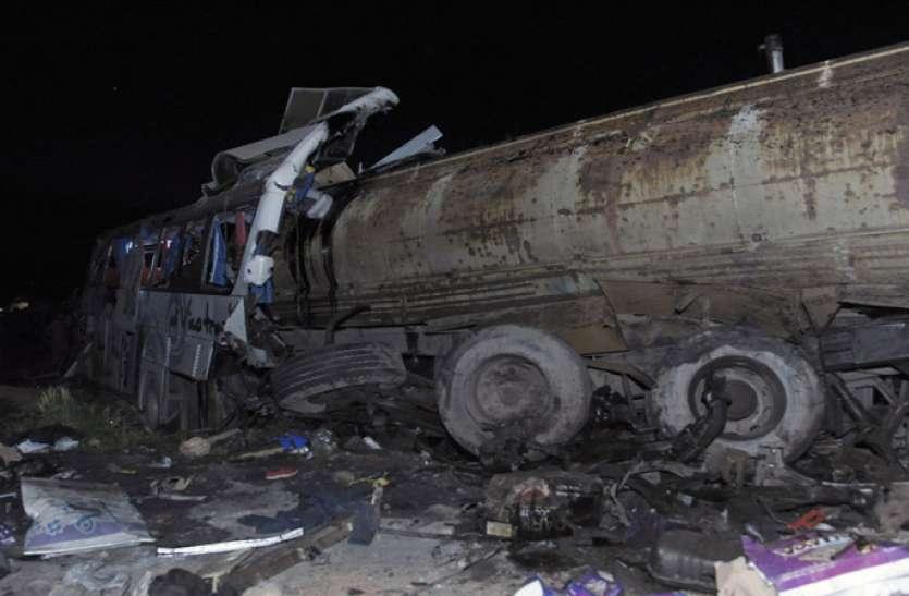 सीरिया: राजधानी में ईंधन भरे ट्रक की दो यात्री बसों से जोरदार टक्कर, अब तक 30 की मौत