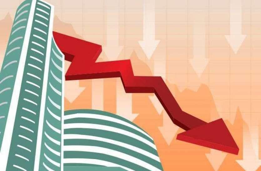 रिकॉर्ड लेवल से 1300 अंक टूटा शेयर बाजार, निवेशकों को दो दिन 5.5 लाख करोड़ रुपए का नुकसान