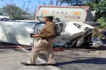 दिल्ली-देहारादून हाईवे पर माेहंड के पास आबकारी टीम की SUV ट्रक से टकराई, टीम के एक सदस्य की माैत