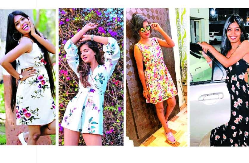 बॉलीवुड की टॉप हीरोइन का फैशन ट्रेंड, टॉप-टीज के साथ वनपीस में फ्लोरल प्रिंट