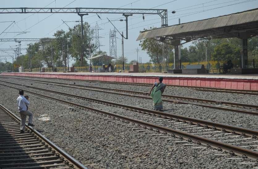 प्लेटफार्म टिकट महंगा होने से सीहोर रेलवे स्टेशन पर सन्नाटा