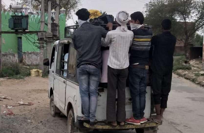 नहीं थम रहे ओवरलोड वाहन, संक्रमण फैलने का खतरा
