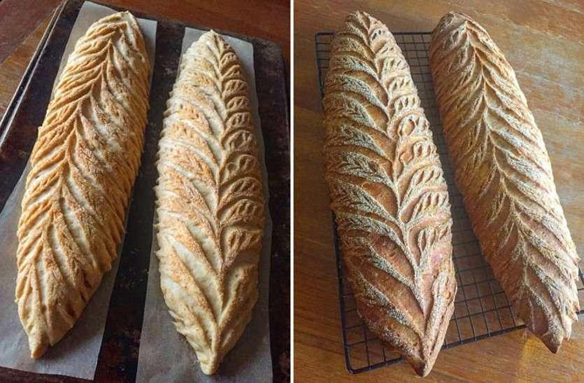 खाने में लजीज और देखने में लाजवाब ब्रेड पर कलाकारी