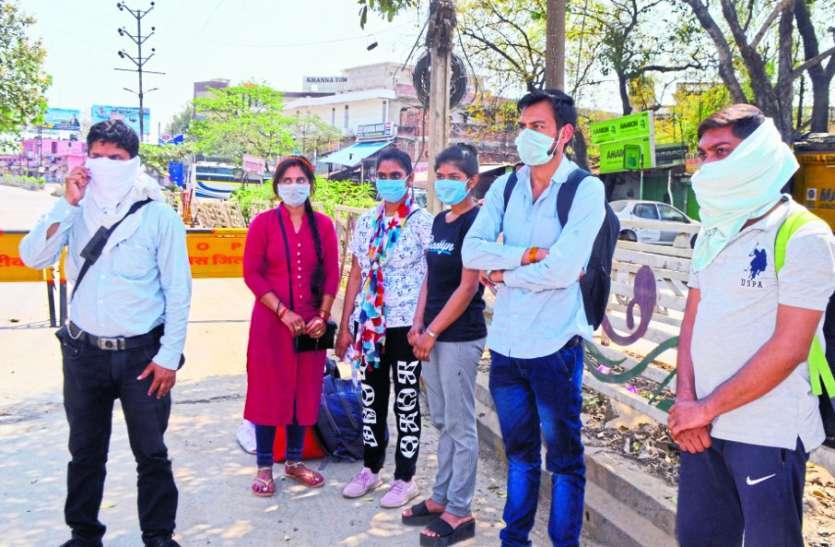 लॉक डाउन में फंसे इंदौर से छात्रों को लेकर बस पहुंची रीवा