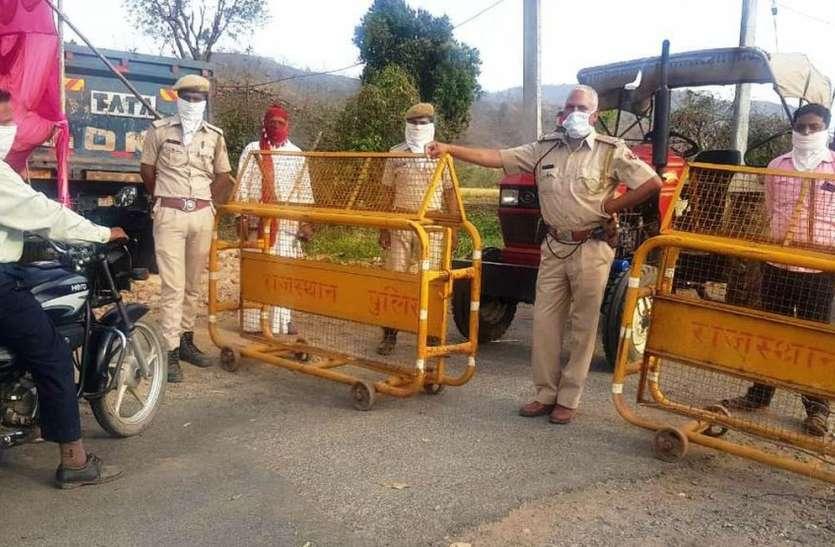 राजस्थान - गुजरात सीमा पर पुलिस तैनात