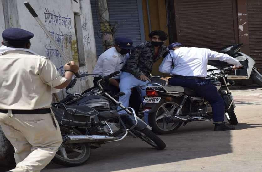 अपने ही अंदाज में नासमझों को समझाया शहर की पुलिस ने