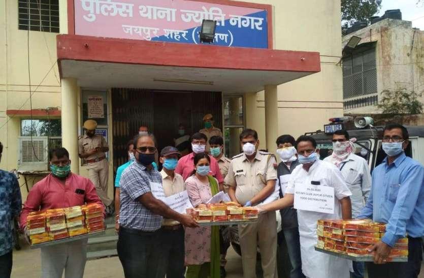 रोटरी क्लब जयपुर सिटीजन ने बांटे खाने के पैकेट