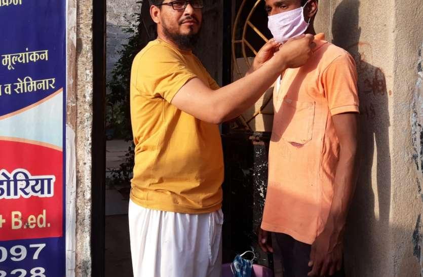 मुस्लिम युवक ने दी कोरोना वायरस से बचाव को लेकर मिसाल