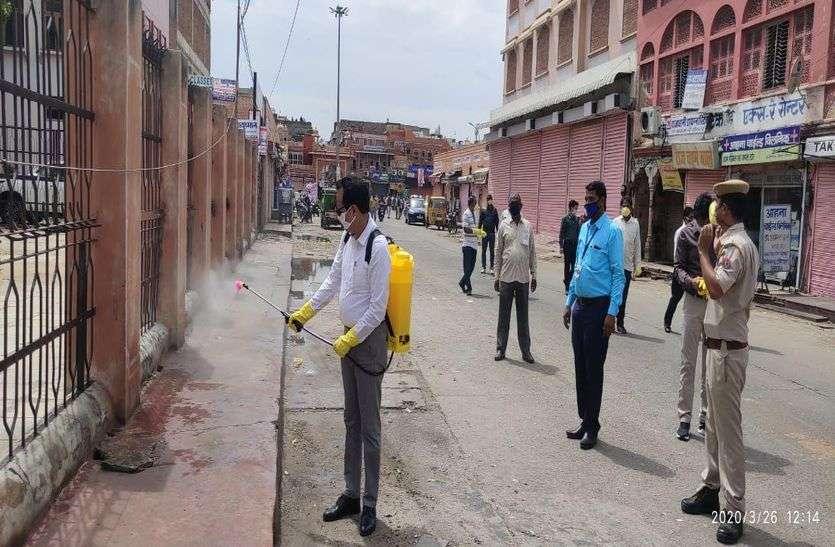 1000 लीटर सोडियम हाइपोक्लोराइट से रोजाना जयपुर में सेनेटाइजेशन