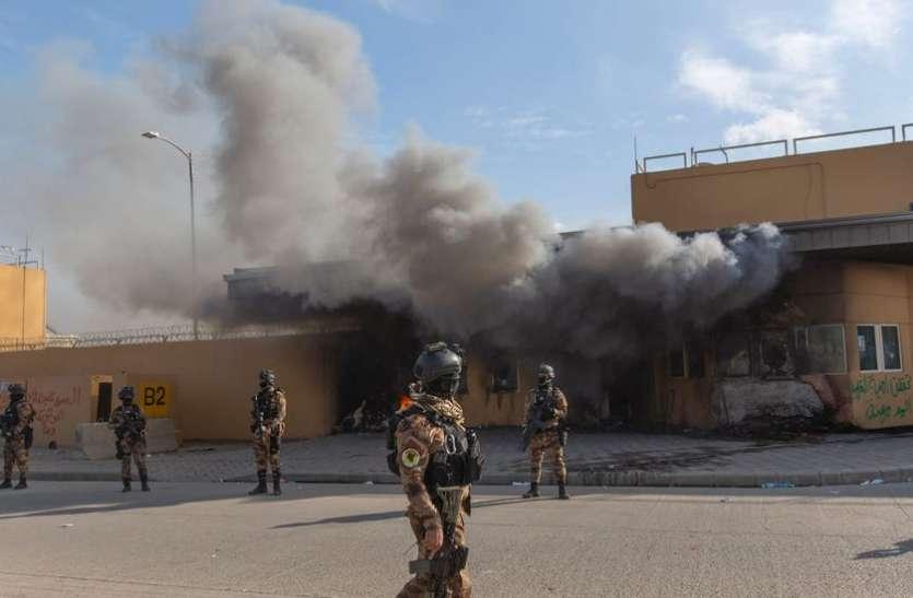 इराक: अमरीकी दूतावास के पास दो रॉकेट दागे गए, ईरान पर शक गहराया