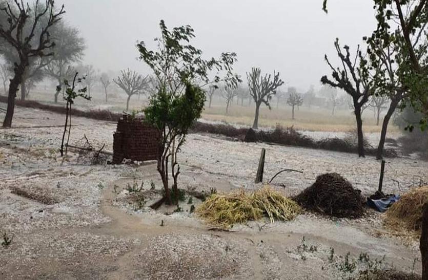 Weather In Churu: अचानक पलटा मौसम, ओलाबारी के साथ हुई बारिश