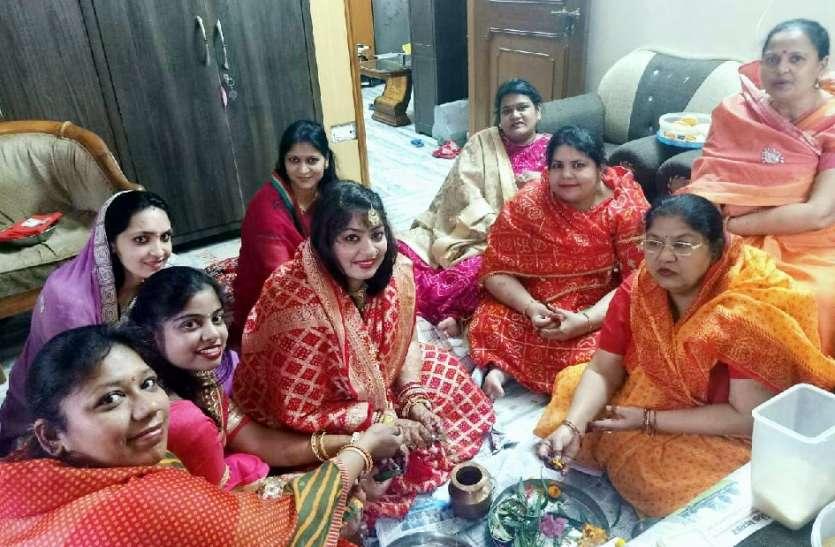 कोरोना के डर से घरों में मनी गणगौर