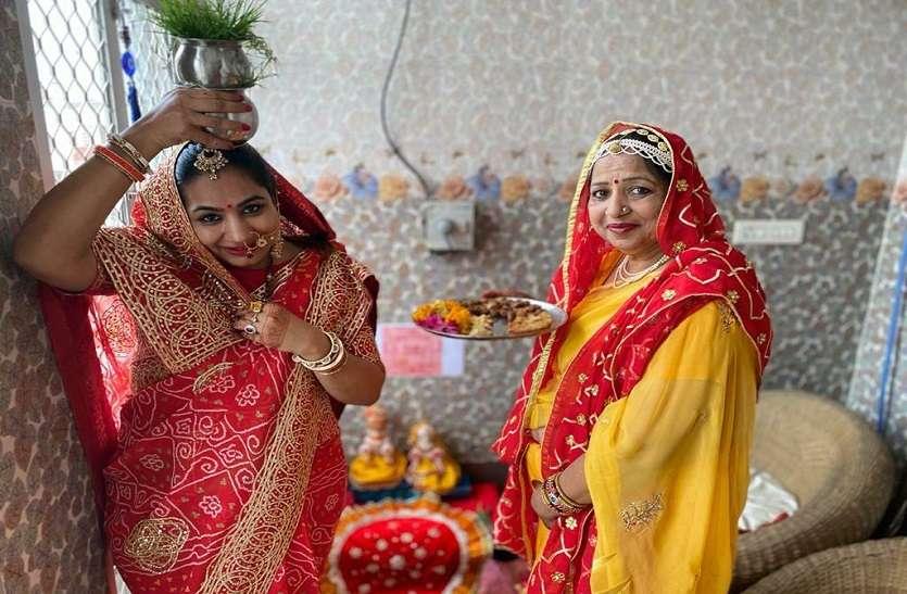 Gangore festival : सुहागिनों ने सतर्कता से पूजीं गणगौर, आस्था के आगे हारा कोरोना!