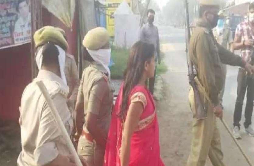 लॉकडाउन का उल्लंघन कर महिला ने किया झाड़फूंक, पुलिस पर किया पथराव