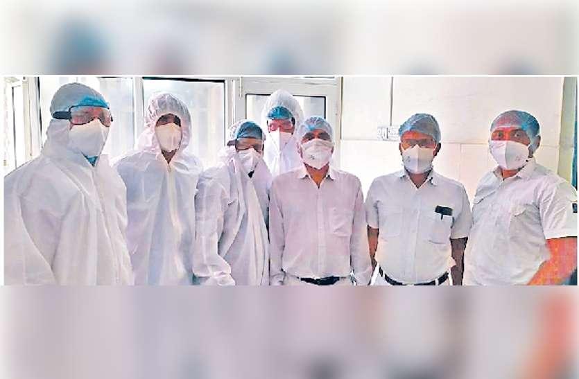 एसएमएस अस्पताल में यों कोरोना वायरस पीड़ित मरीजों को हो रहा बेहतर उपचार