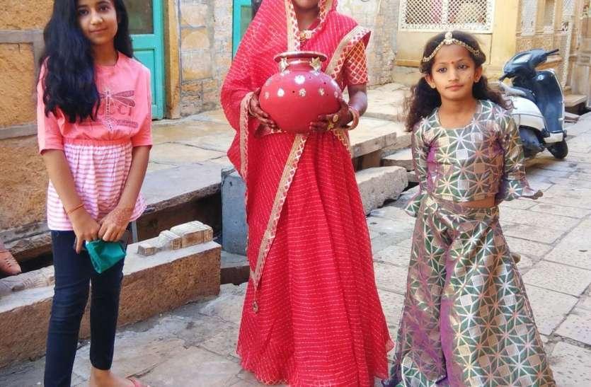 महिलाओं ने गणगौर का व्रत भी ससुराल में खोला