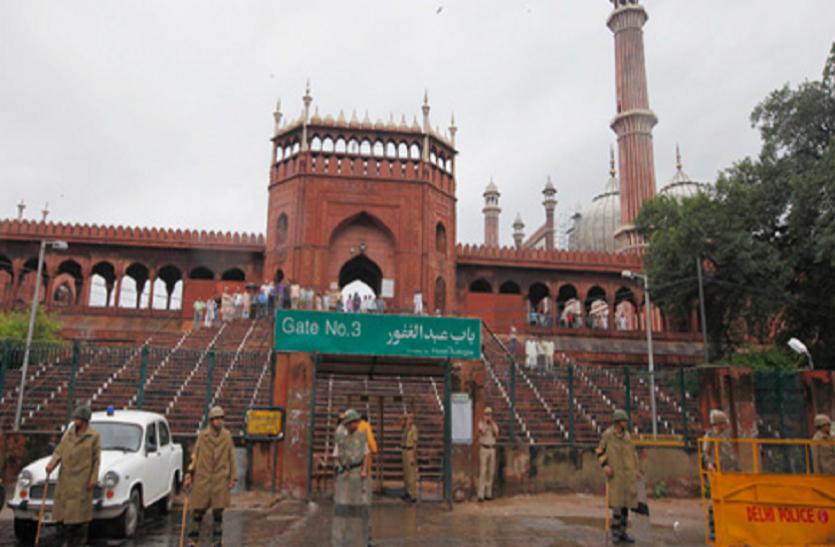 कोविड-19 : दिल्ली की जामा मस्जिद में नहीं आया कोई नमाजी, चारों तरह रहा सन्नाटा