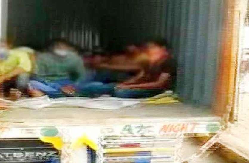 Lockdown : दो ट्रकों में छिपकर राजस्थान जा रहे थे 300 मजदूर, पुलिस ने महाराष्ट्र में पकड़ा