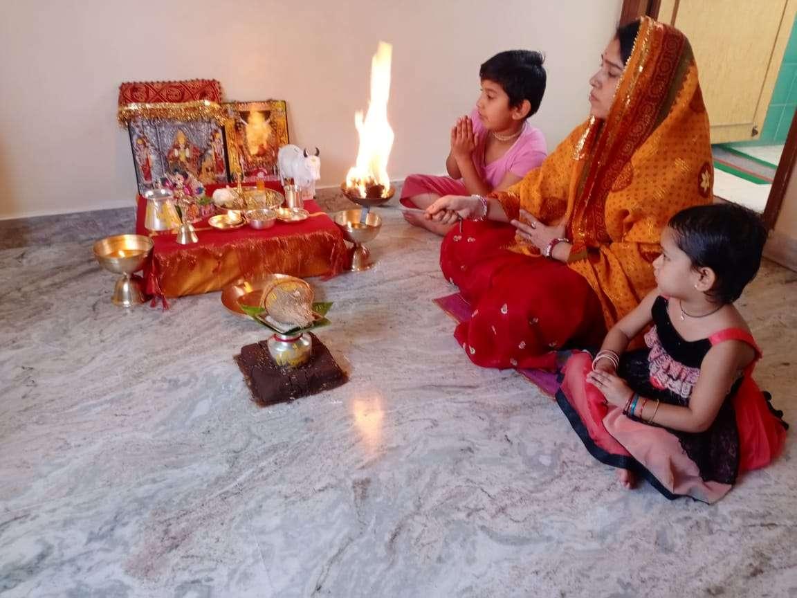 कर्नाटक में भक्ति भाव से मनाया ईसर-गणगौर पर्व