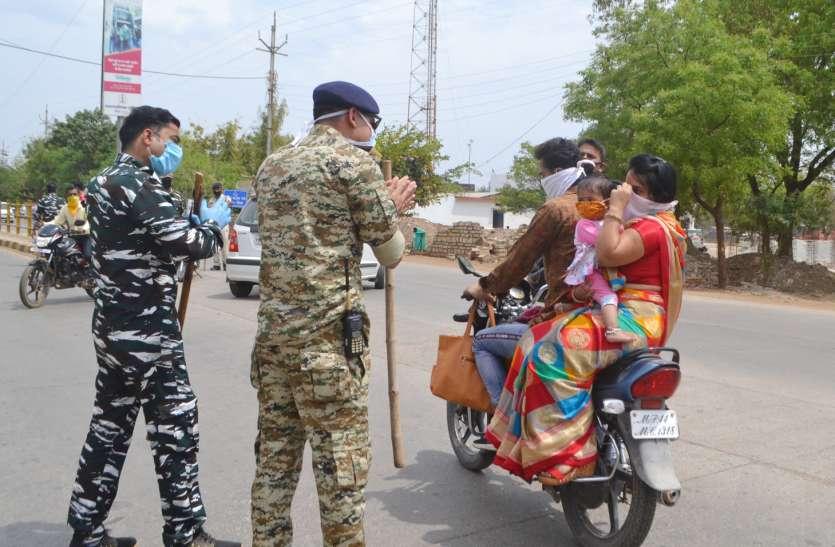 जिले में दिखाई देने लगा पुलिस की सख्ती का असर