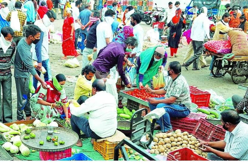 लॉकडाउन का असर: कोटा में 2 घंटे में 10 गुना बढ़े सब्जियों के दाम, 200 रुपए किलो बिकी मिर्ची