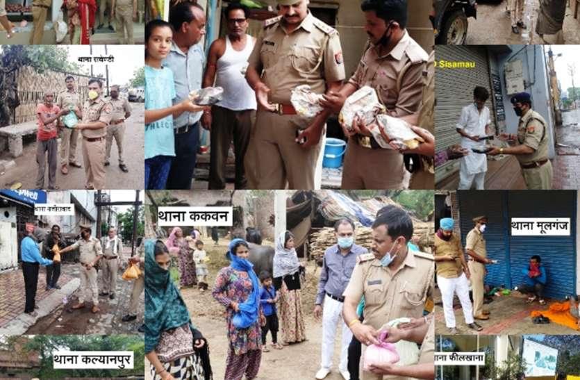 24 घंटे बिना थके वर्दी के अंदर इंसान कर रहा ड्यूटी, पहरेदारी के साथ गरीबों को खिला रहे रोठी