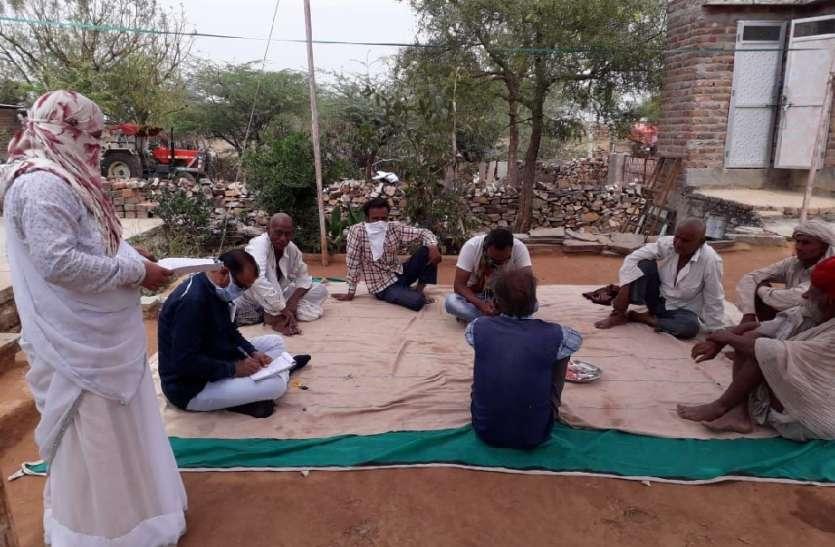 आधा दर्जन ग्राम पंचायतों में चिकित्सा विभाग की टीम ने घर-घर पहुंचकर ली जानकारी