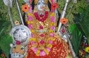 सिंहवाहनी के स्वरूप मेंं किया राज राजेश्वरी का श्रंगार