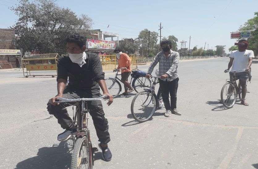 साइकिलों से 4 युवक 9 दिन में 1611 किमी का सफर तय कर पहुंचे भिण्ड