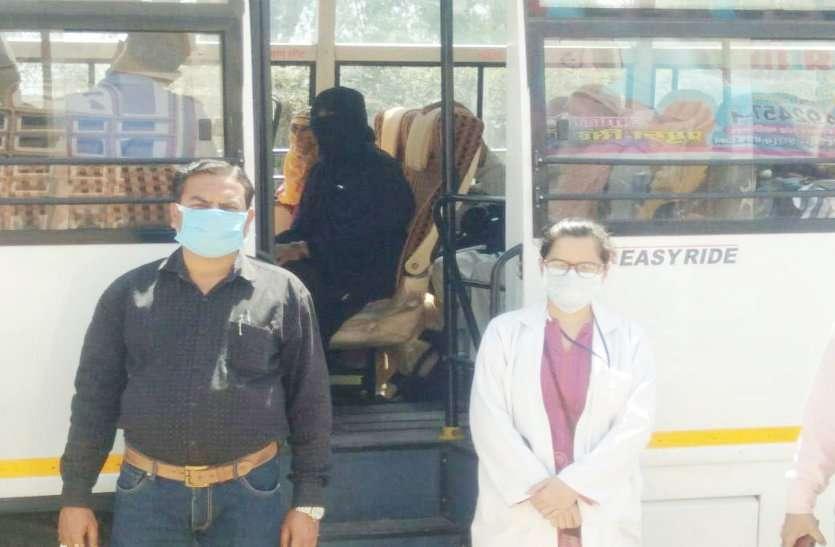 कोरोना वायरस: अवाड़पुरा के 27 लोगों को श्याम बाटिका से वापस घर भेजा, CHMO सहित सोलह सैंपल गए जांच में