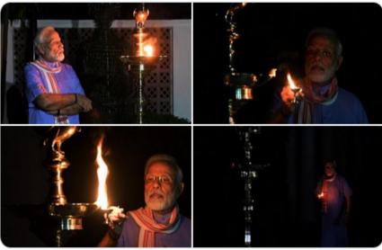 Corona Lockdown: कश्मीर से कन्याकुमारी तक लोगों ने कोरोना के खिलाफ दिखाई एकजुटता, पीएम मोदी ने जलाया दीया