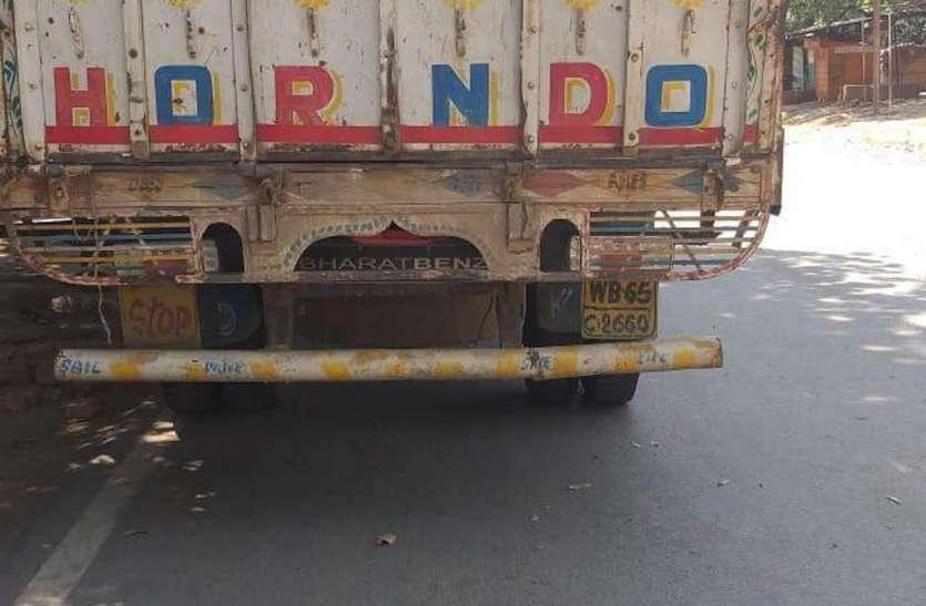 अनाधिकृत रूप से श्रमिकों के परिवहन पर ट्रक जब्त