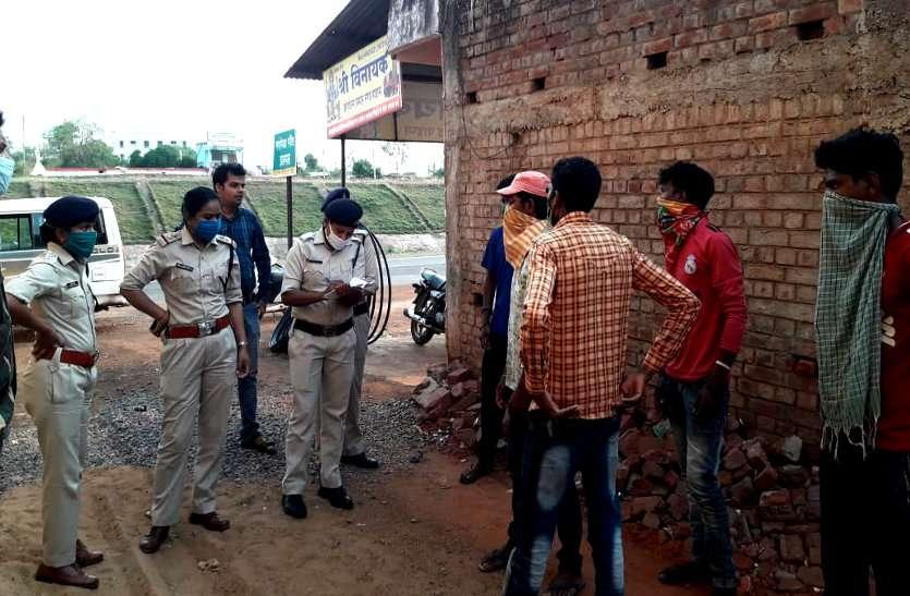 मालवाहक में छुपकर महाराष्ट्र से CG पहुंचे पांच मजदूर भागे, पुलिस ने रातों रात खोजकर भेजा होम आइसोलेशन में