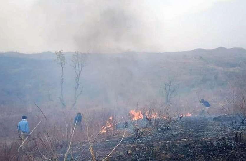 बांसवाड़ा : जंगल की आग ने धधकाया मकान, घर से भाग बचाई जान