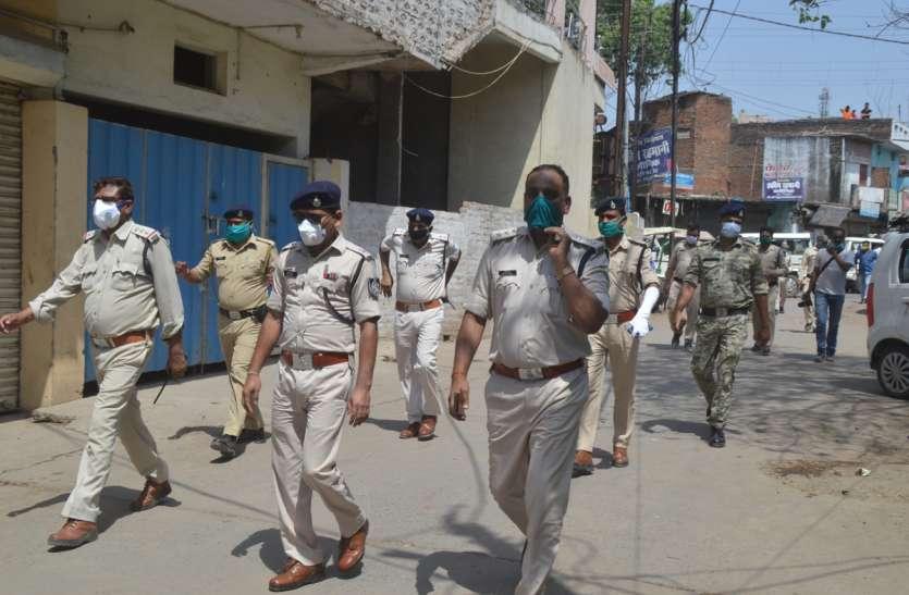 corona virus : लॉक डाउन का पालन कराने मोहल्लों में घूमती रही पुलिस