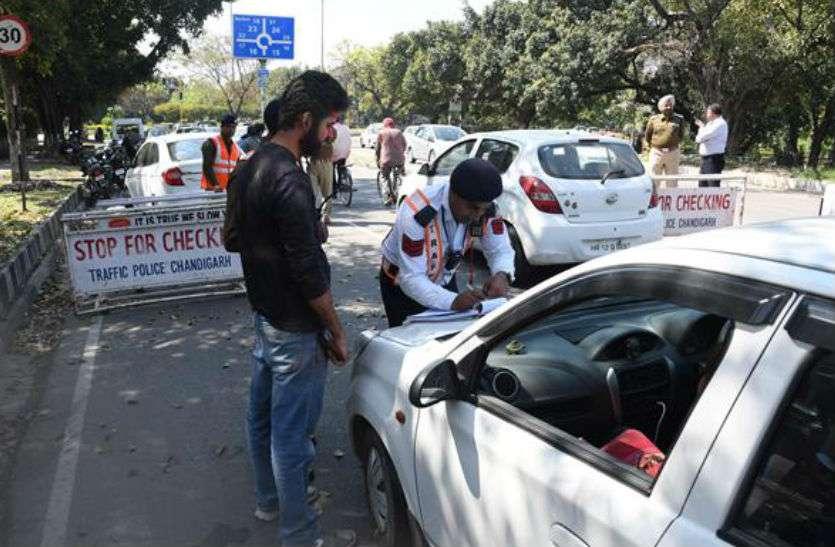जीप चालक ने चंडीगढ़ पुलिस के हवलदार की बुरी गत बनाई