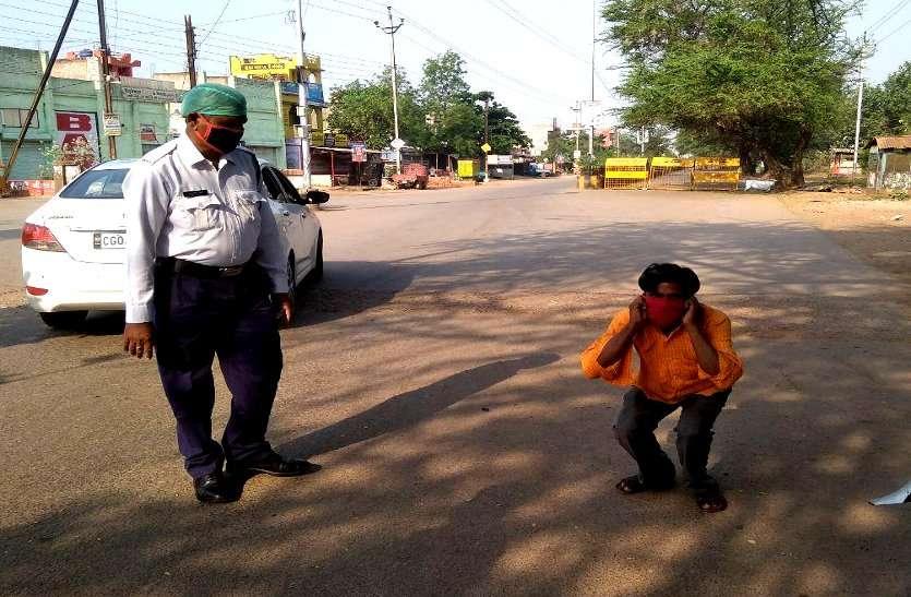 27 साल बाद सीएम के गृह जिले में लगा कफ्र्यू, बेवजह सड़क पर घूमने वालों को पुलिस ने कराई उठक बैठक, लोगों ने बरसाए फूल