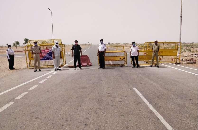 कोरोना का कहर: पोकरण में लॉकडाउन में सूने पड़े है बाजार