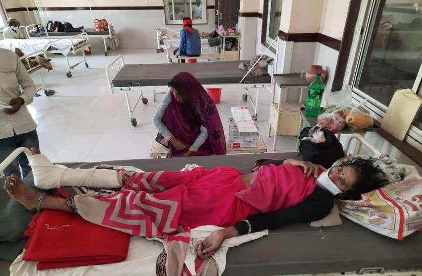 जिला अस्पताल में डिस्चार्ज के 24 घंटे बाद मिली एंबुलेंस