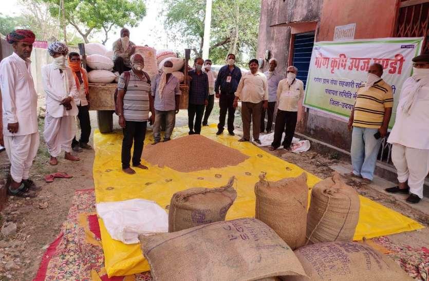 गौण कृषि उपज मण्डी का शुभारंभ, खुली बोली से किसानों द्वारा लाए अनाज का क्रय विक्रय