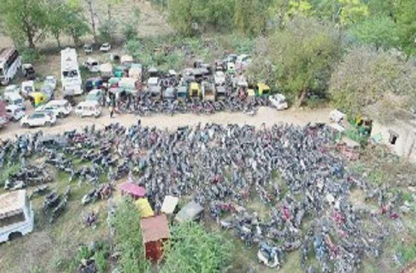 जयपुरवासियों ने यह क्या किया, पुलिस को जब्त करने पड़ गए 13608 वाहन
